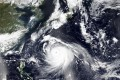 A Nasa satellite image shows Typhoon Haishen approaching Japan's southern regions, on the heels of an earlier typhoon. Photo: AP