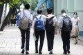 Hong Kong students will return to physical classes this month and the government wants staff, children and parents to undergo Covid-19 testing. Photo: Dickson Lee
