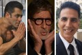 Salman Khan, Amitabh Bachchan and Akshay Kumar are among Bollywood's biggest actors. Photos: @beingsalmankhan, @amitabhbachchan, @akshaykumar/Instagram