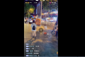 A live-streamer films himself following young women on the street before being banned from the Douyin platform. Picture: Douyin via Weibo
