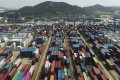 China's exports in August surged 9.5 per cent from a year earlier. Photo: AP