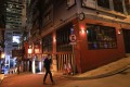 Hong Kong's Lan Kwai Fong nightlife hub in Central wears a deserted look on August 28. Photo: May Tse