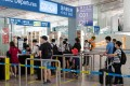 The domestic departures area at Beijing Capital International Airport on August 25. China's aviation authority said its daily flight numbers had recovered to 90 per cent of pre-coronavirus levels by the end of last month. Photo: Bloomberg
