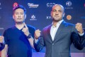 Eddie Alvarez (right) with ONE CEO Chatri Sityodtong ahead of his fight against Eduard Folayang in Manila. Photos: ONE Championship