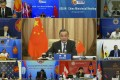 Chinese Foreign Minister Wang Yi during an online meeting with Asean foreign ministers. Photo: AP