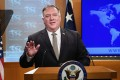 US Secretary of State Mike Pompeo said China does not respect democratic values and principles of sovereignty, quality and territorial integrity. Photo: AP