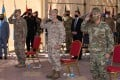 Combined Joint Task Force-Operation Inherent Resolve holds a change-of-command ceremony in Baghdad on Wednesday. Photo: US Department of Defence handout via AFP