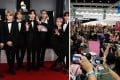 Members of BTS (left) and Momoland have been subjected to admiration by fans who just go too far. Photos: AP, Reuters