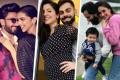 From left, Ranveer Singh and Deepika Padukone; Anushka Sharma and Virat Kohli; Saif Ali Khan, Kareena Kapoor and Taimur Khan. Photos: @deepikapadukone; @anushkasharma; @kareenakapoorkhan/Instagram