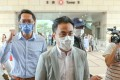 Lawmaker Kwok Wai-keung (right) appears at West Kowloon Court on Monday. Photo: K. Y. Cheng