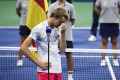 Alexander Zverev during the trophy presentation after US Open final defeat against Dominic Thiem. Photo: AFP