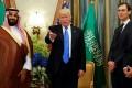 Saudi Arabia's Crown Prince Mohammed bin Salman, US President Donald Trump and White House senior adviser Jared Kushner. Photo: Reuters