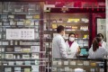 A pharmacy in Shanghai. Family-run shops account for more than half of China's 480,000 retail pharmacies. Photo: Getty Images