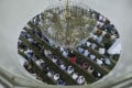 Muslims offer Ramadan prayers at the Kowloon Mosque in Tsim Sha Tsui in May last year. Photo: Xiaomei Chen