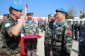 A Chinese colonel receives a UN peace medal on behalf of the Chinese peacekeeping force in southern Lebanon in 2017. China is the second-largest contributor to the UN after the US. Photo: Xinhua