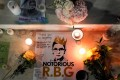 Candles are lit next to pictures of Justice Ruth Bader Ginsburg at the US Supreme Court in Washington. Photo: Reuters