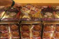 Counterfeit mooncakes seized during a previous customs operation in Yuen Long. Photo: SCMP