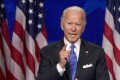 Vice-president Joe Biden, the 2020 Democratic Party nominee for president, delivers his acceptance speech on the last night of the convention on August 20, 2020. Photo: Democratic National Convention / CNP / Abaca Press / TNS