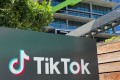 The logo of Chinese video app TikTok is seen on the side of the company's new office space at the C3 campus in Culver City, Los Angeles. Photo: AFP