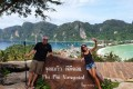 Christian and Beatrice Meier are enjoying the empty beaches and cheap hotels in Thailand, but with its borders closed for months, the impact on the many Thais who depend for their livelihood on tourism has been severe. Photo: Red Door News/Christian and Beatrice Meier