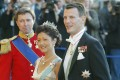 Denmark's Prince Joachim and his wife Alexandra, Countess of Frederiksborg, on their way to the Royal Theater in Copenhagen in 2004. Photo: AP Photo