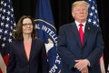 US President Donald Trump and Gina Haspel at the swearing-in ceremony for Haspel as CIA director May 21, 2018. File photo: AFP