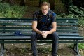 Russian politician Alexei Navalny is seen sitting on a park bench in Berlin after being discharged from hospital a month after being admitted. Photo: AFP