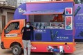 The new Mi store on wheels reaches customers in rural India. Photo: Handout