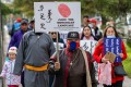 Protesters demonstrate in the Mongolian capital of Ulan Bator on September 15 against neighbouring China's plan to introduce Mandarin-only classes at schools in its Inner Mongolia region. Photo: AFP