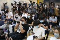 Media members attend a Hong Kong Journalists Association press conference in Wan Chai on September 24. Audiences have been more reliant than ever on professional journalists and newsrooms amid the Covid-19 pandemic and the proliferation of fake news. Photo: Nora Tam