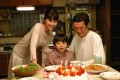 (From left) Yuko Takeuchi, Akashi Takei and Shidou Nakamura in a still from Be With You (2004).