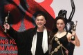 The last time a physical awards ceremony for the Hong Kong Film Awards was held was in April 2019, when Anthony Wong and Chloe Maayan won the awards for best actor and best actress. After a virtual ceremony this year, the next awards have been postponed until early 2022. Photo: Sam Tsang
