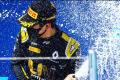 China's Zhou Guanyu celebrates his first Formula Two victory at Sochi. Photo: Instagram/Zhou Guanyu