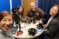 SCMP staff Denise Tsang, Kinling Lo, Jarrod Watt and Mimi Lau in the SCMP podcast studio. Photo: Denise Tsang