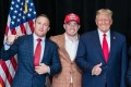 Justin Gaethje (left) and Colby Covington (second left) pose for a picture with US president Donald Trump along with other UFC fighters and personalities. Photo: Instagram