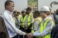 Zambian President Edgar Lungu meets workers from Aviation Industry Corp of China in 2018. Photo: AFP
