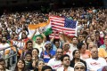Indian-Americans at an event featuring US President Donald Trump and Indian PM Narendra Modi in Texas on September 22, 2019. Photo: Bloomberg