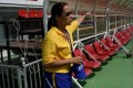 Cristina Ramos on duty as a match commissioner during an AFC Cup match in Bangkok, Thailand. Photo: Handout
