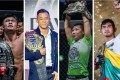 Christian Lee, Martin Nguyen, Xiong Jingnan and Aung La N Sang with their ONE world titles. Photos: ONE Championship