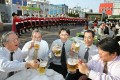 Japan's traditional drinking culture extends into business, and people who don't consume alcoholic drinks often feel left out and discriminated against. Times are changing, though, and alcohol-free bars are growing in popularity. Photo: Kazuhiro Nogi/AFP