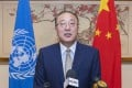 Zhang Jun, China's permanent representative to the United Nations, speaks during a press briefing in New York in September. Photo: Xinhua