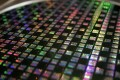 A silicon wafer is displayed at the headquarters of Taiwan Semiconductor Manufacturing Co, the world's largest contract chip maker. Photo: Reuters