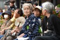 Elderly residents pictured in Tokyo in 2014. Photo: AFP