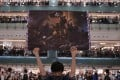 A protester holds up a poster during a rally at a Sha Tin shopping mall on September 11 last year in a photo nominated for this year's World Press Photo contest. Photo: AFP