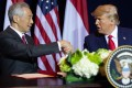 US President Donald Trump shakes hands with Prime Minister Lee Hsien Loong of Singapore at the UN in September 2019, one of the few times he has met with the leader of an Asean nation. Photo: AFP
