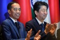 Indonesian President Joko Widodo, left, and then Japanese prime minister Shinzo Abe attend the East Asia Summit in Bangkok on November 4, 2019. Japan has long-standing ties with Southeast Asia, and those ties are likely to continue growing with the region's centrality in the notion of the Indo-Pacific. Photo: Reuters