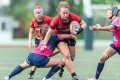 Former Hong Kong national player Suzanne Sittko doing what she did best for Valley Black Ladies team – 'the big contact and running with the ball was an absolute blast'. Photos: Handout