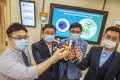(Left to right) HKU's Jasper Chan, Shuofeng Yuan, Hongzhe Sun and Runming Wang have found a potential coronavirus treatment involving drugs containing the metal bismuth. Photo: Winson Wong