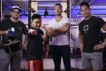 """Filmmaker Thomas J. Elliott, professional boxer """"Gemini"""" Chan Ching-man, Alex Chung Cheuk-ki and producer Harry Pang Man-chung take on mental health during Covid-19 and its relation to athletes and fitness. Xiaomei Chen"""