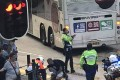 The accident took place when the bus was making a left turn from Nathan Road onto Argyle Street in Mong Kok. Photo: SCMP